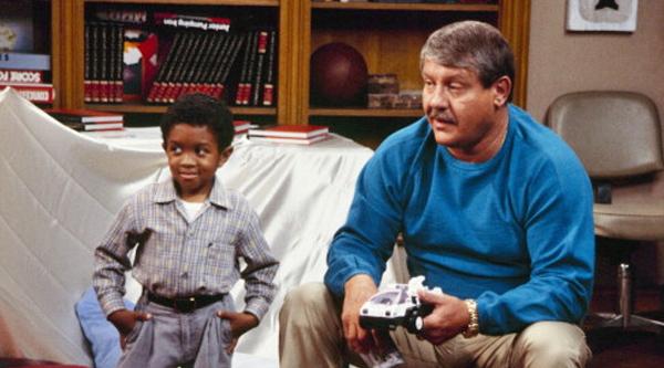 Emmanuel Lewis and Alex Karras on the TV show 'Webster'