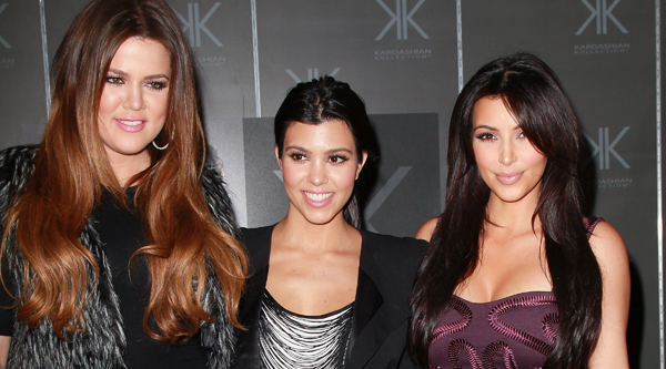 CERRITOS, CA - SEPTEMBER 18:  (L-R) TV personalities Khloe Kardashian, Kourtney Kardashian and Kim Kardashian attend an in-store appearance for the Kardashian Kollection at Sears on September 18, 2011 in Cerritos, California.  (Photo by David Livingston/Getty Images)