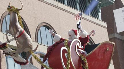 Santa traditionally ends the H-E-B Holiday Parade.