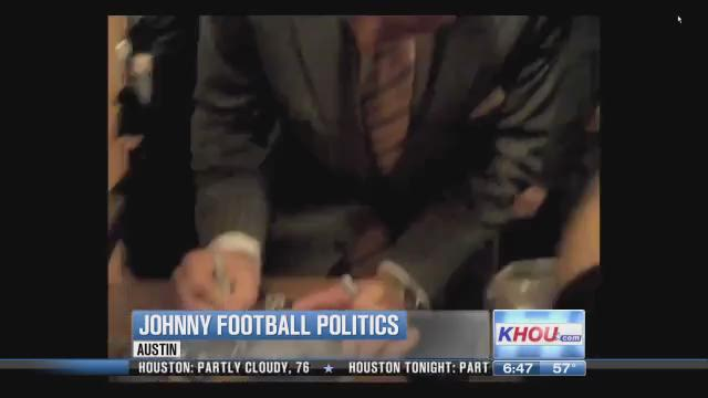 Lawmakers swoon over Johnny Football at Texas Capitol