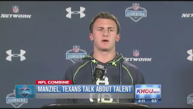 Johnny Manziel measures up to NFL press