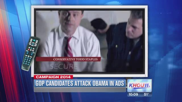 Texas GOP candidates targeting Obama as primary nears