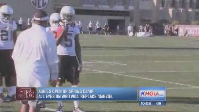 Aggies open up spring camp without Manziel