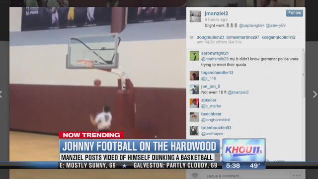 Watch: Johnny Manziel shows off his dunking skills on Instagram