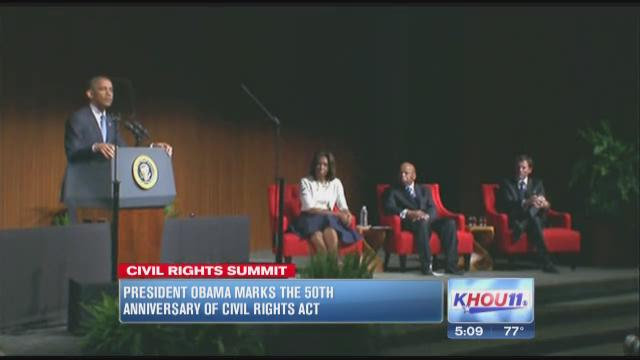 Obama marks 50th anniversary of Civil Rights Act