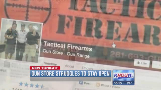 Katy gun store facing foreclosure struggles to stay open