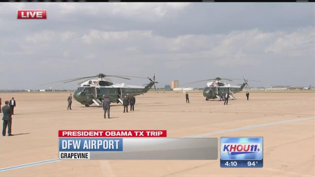 Obama arrives in Texas with no plans to visit border