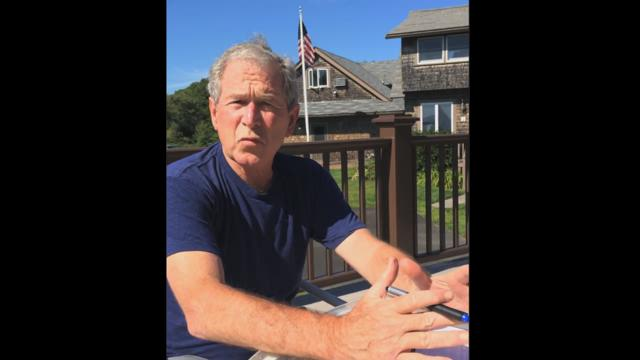President George W. Bush does the Ice Bucket Challenge