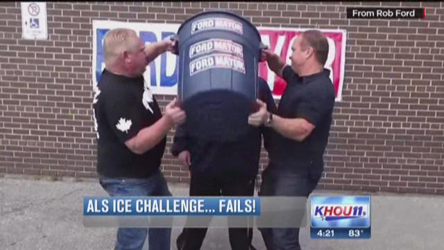 You have probably seen all the people on Facebook taking part in the ALS Ice Bucket Challenge. However, some of the challenges don't always go as planned.