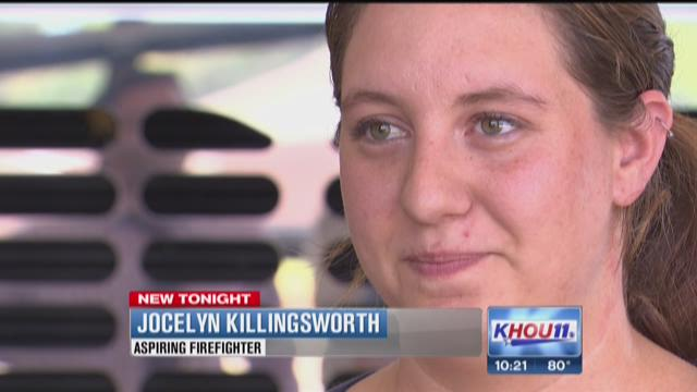 A 27-year-old mother is eager to start a new profession as a firefighter, and she says one person has been her inspiration.