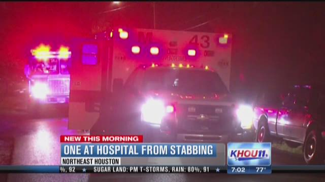 One in hospital after stabbing