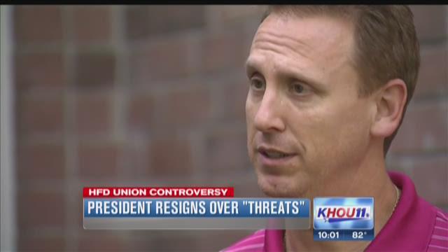 President resigns over threats