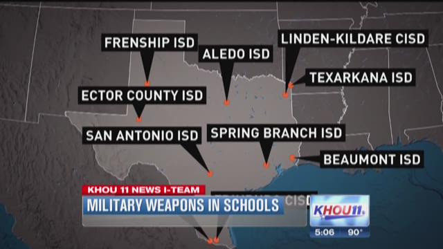 Military surplus going to Texas schools