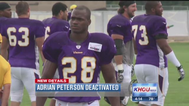 Adrian Peterson benched indefinitely
