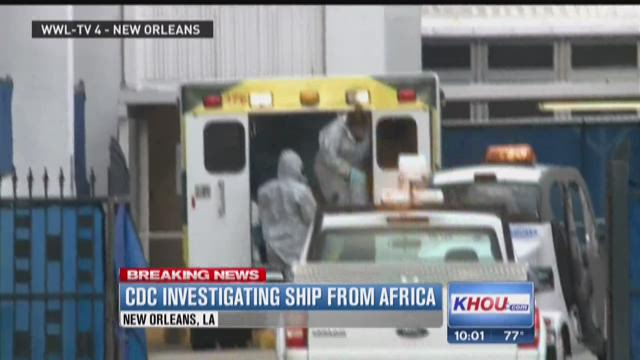 3 sickened on ship from Africa