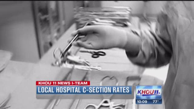 Local hospital C-section rates