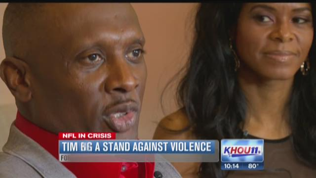 Tim Brown takes stand against domestic violence