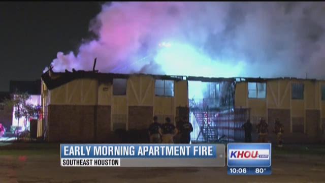 2-alarm blaze destroys 12 apartments