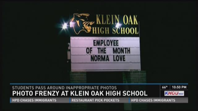 Photo frenzy at Klein Oak High School
