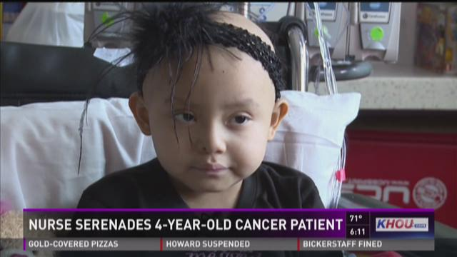 Nurse serenades 4-year-old cancer patient