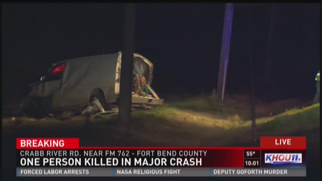 One man is dead after a crash Monday night in Fort