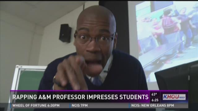 Rapping Texas A&M professor impresses students