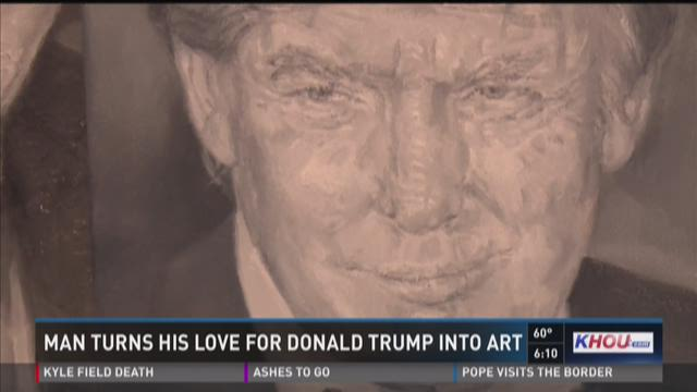 Man turns his love for Donald Trump into art