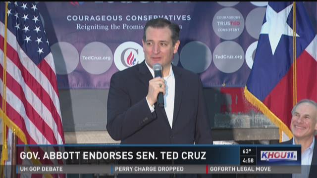Gov. Abbott endorses Ted Cruz