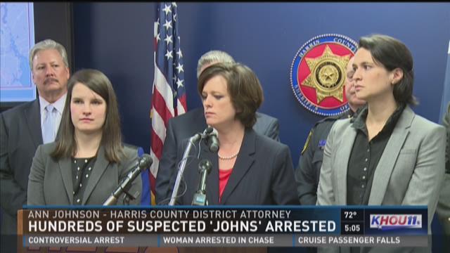 Hundreds of suspect 'John's' arrested
