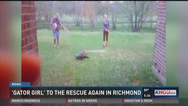 Richmond woman finds 8 foot gator on back porch