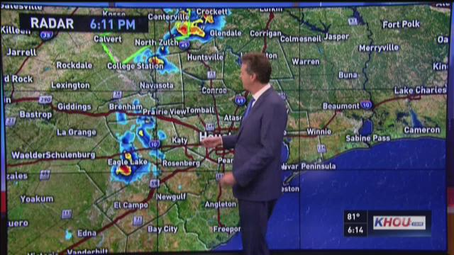 Friday's evening forecast with David Paul
