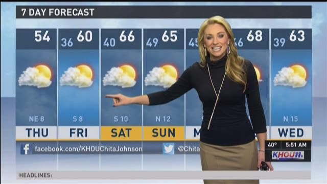 Meteorologist chita johnson has today's weather outlook khou