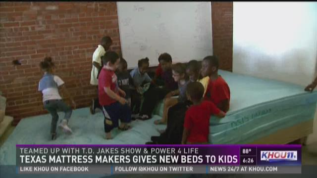 Texas Mattress Makers gives new beds to kids