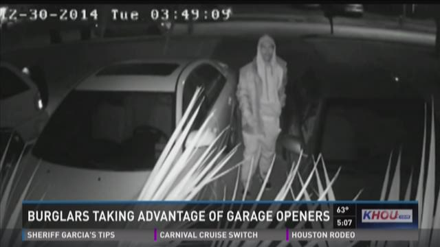 Thieves use garage door openers to rob homes