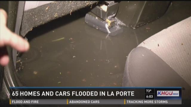 65 homes and cars flooded in la porte for Porte 12 fooding