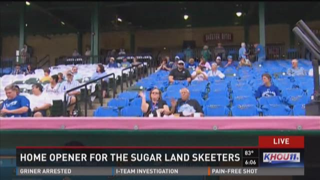 Home opener for the Sugar Land Skeeters
