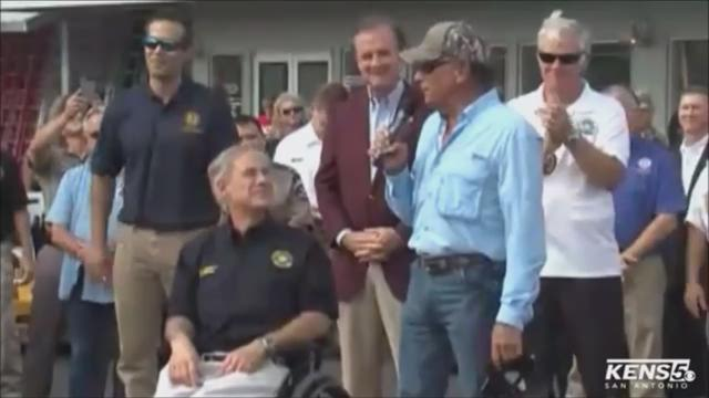 Raw George Strait Visits Harvey Victims In Rockport Tx