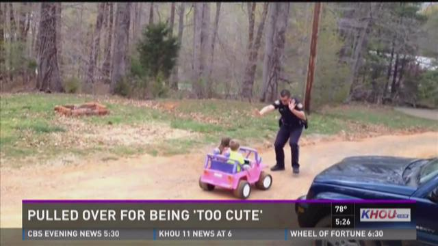 Kids pulled over for being 'too cute'