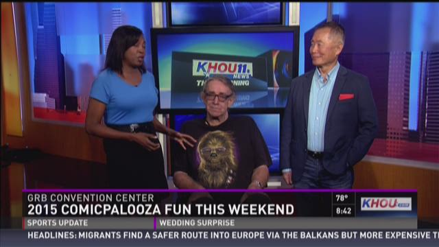 George Takei and Peter Mayhew stop by KHOU 11 studios
