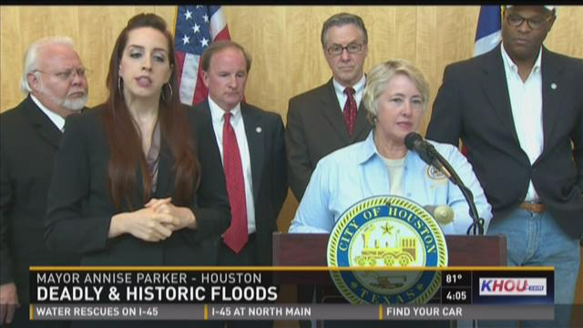 Parker, Abbott promise help from the state to clean up flooding