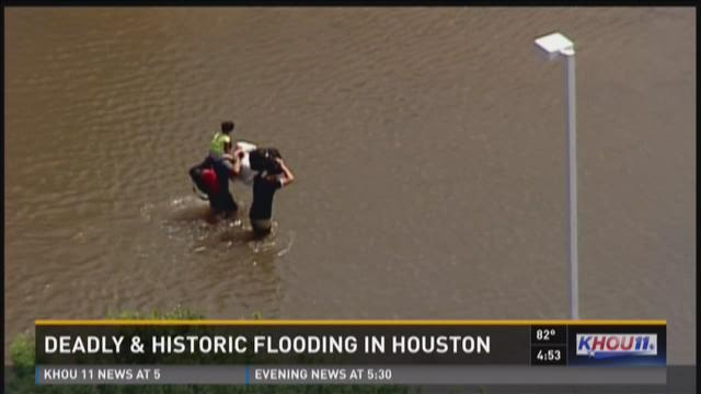 Air 11 captures historic flooding in Houston