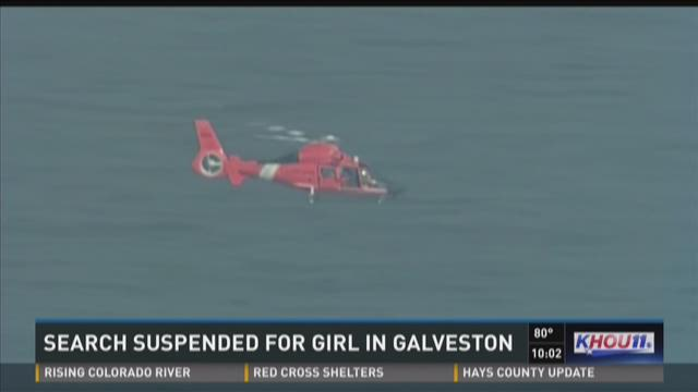 Search suspended for missing girl in Galveston