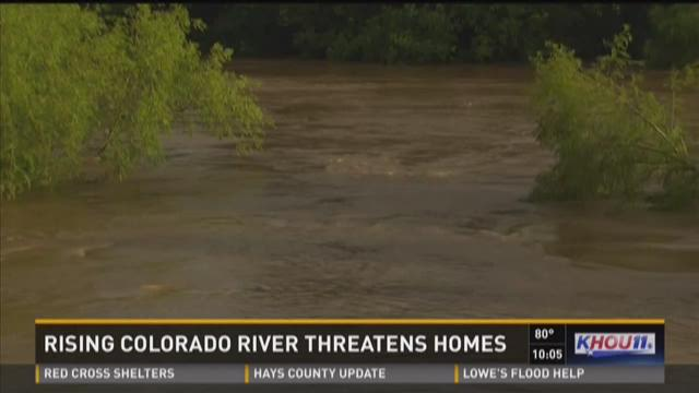Rising Colorado River threatens home