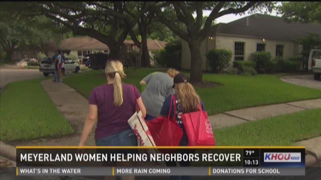 Meyerland women helping neighbors recover