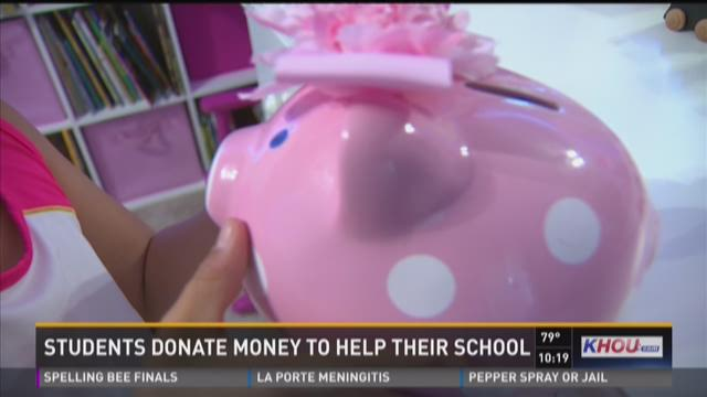 Students donate money to help their school