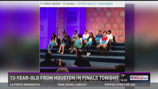 13-year-old from Houston in National Spelling Bee finals