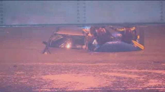 Raw video: Dallas area water rescues after heavy rains