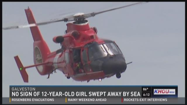 No sign of 12-year-old girl swept away by sea