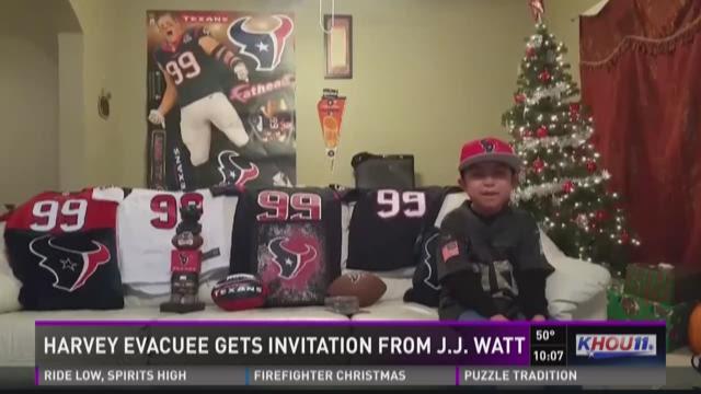J.J. Watt invites cancer survivor to first football game