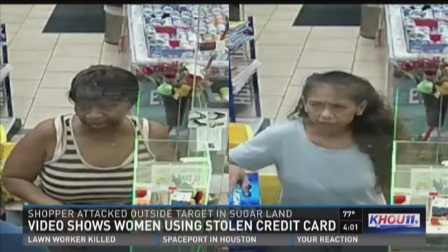 Sugar Land PD releases video of women using stolen credit card